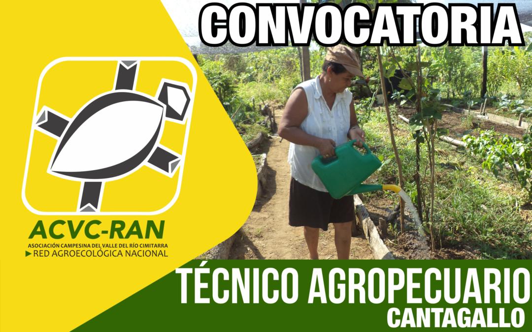 CONVOCATORIA: TÉCNICO AGROPECUARIO EN EL MUNICIPIO DE CANTAGALLO