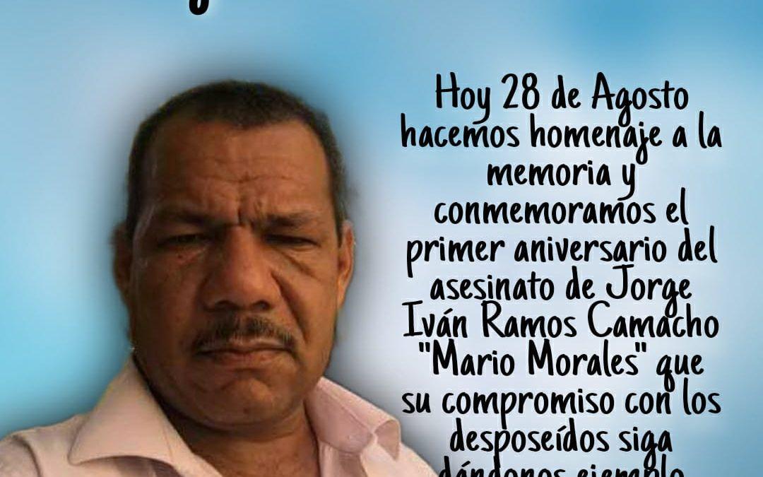 Primer Aniversario del Asesinato de Jorge Iván Ramos Camacho